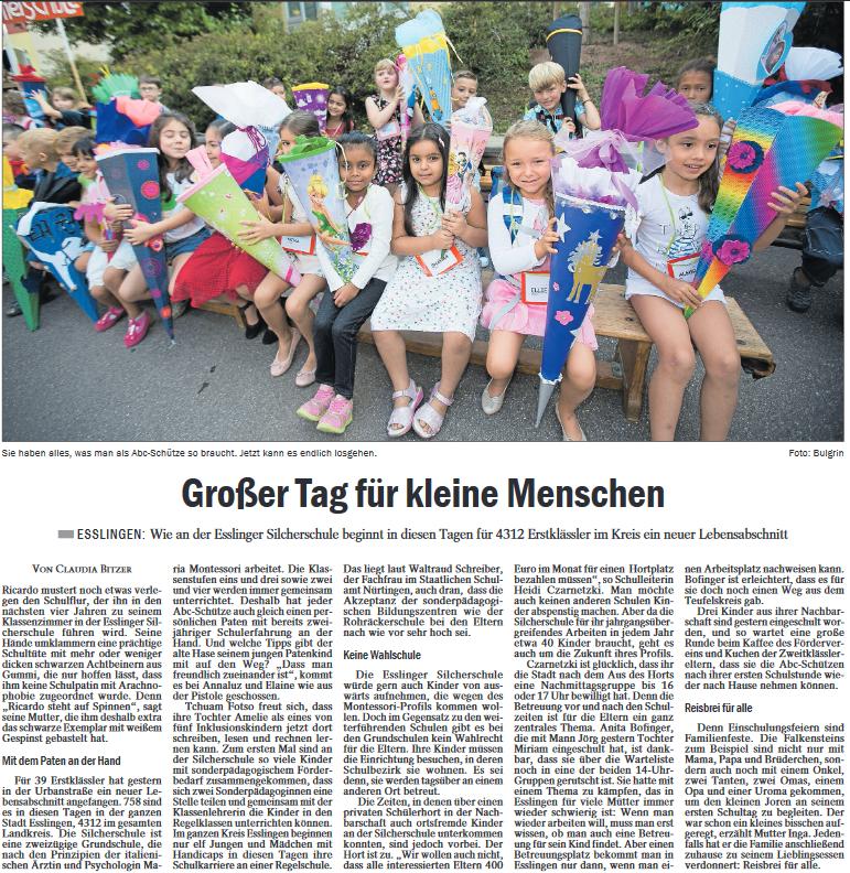 Bericht der Esslinger Zeitung